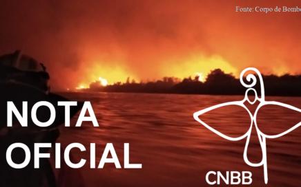 Mensagem sobre as queimadas em território brasileiro